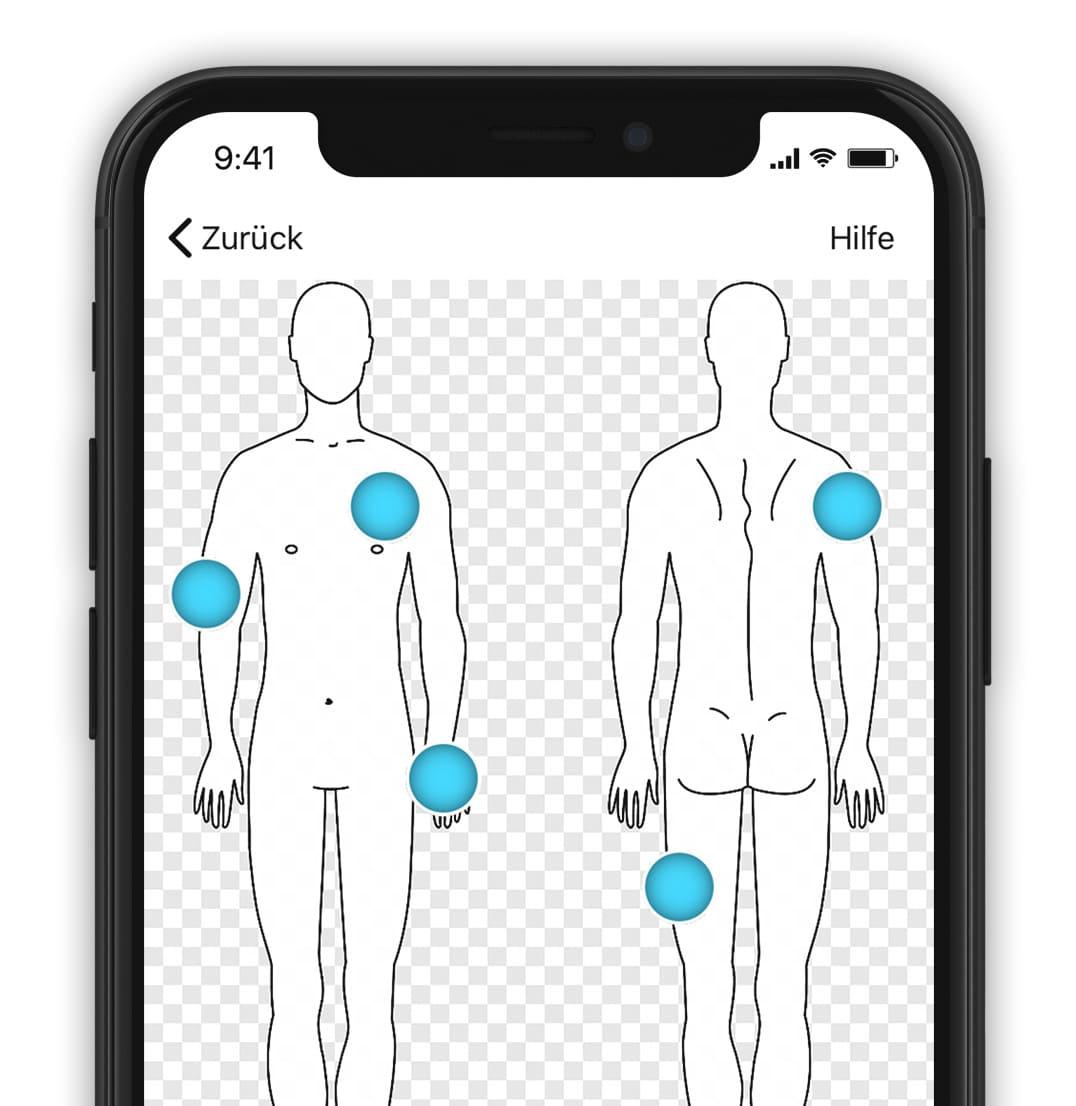 tomedo App Körperstempel