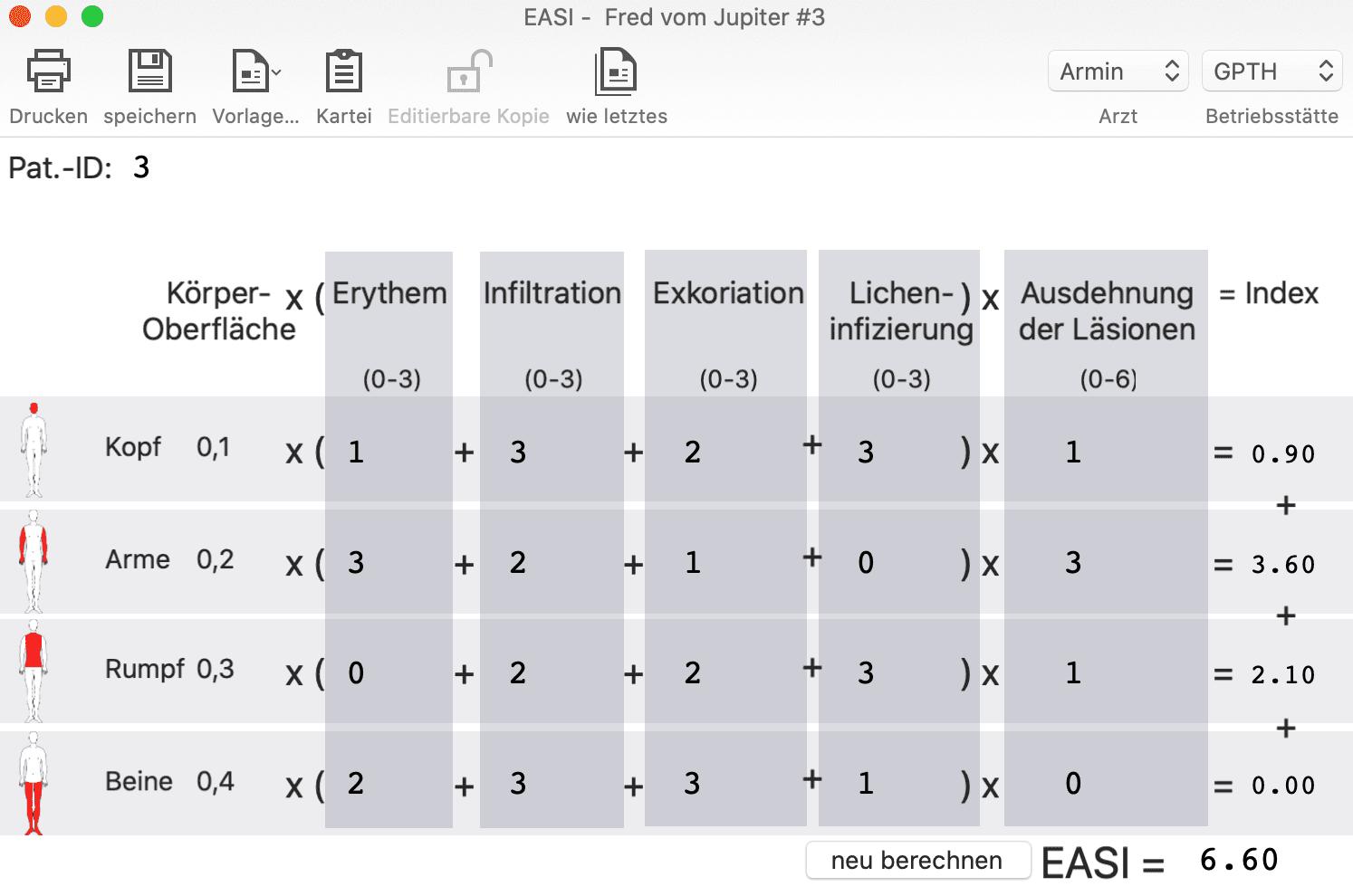 tomedo EASI-Score