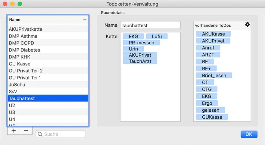 tomedo To-Do-Ketten Verwaltung