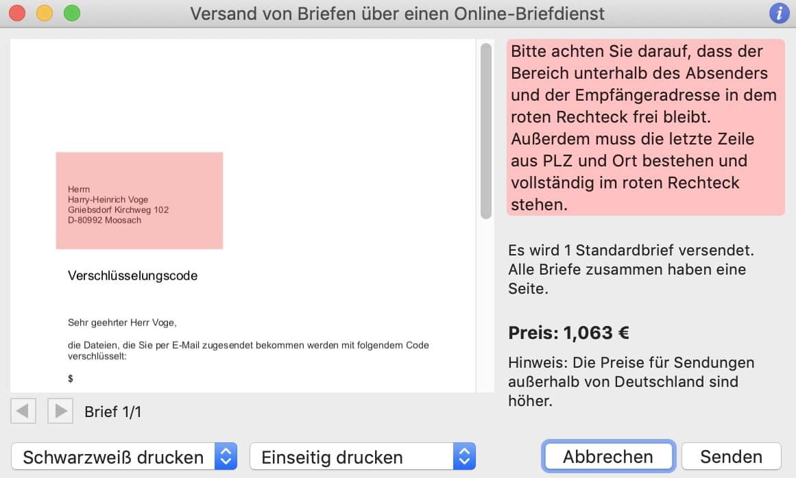 tomedo Online-Briefdienst