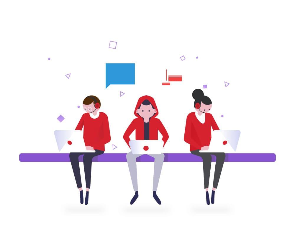 drei Entwickler